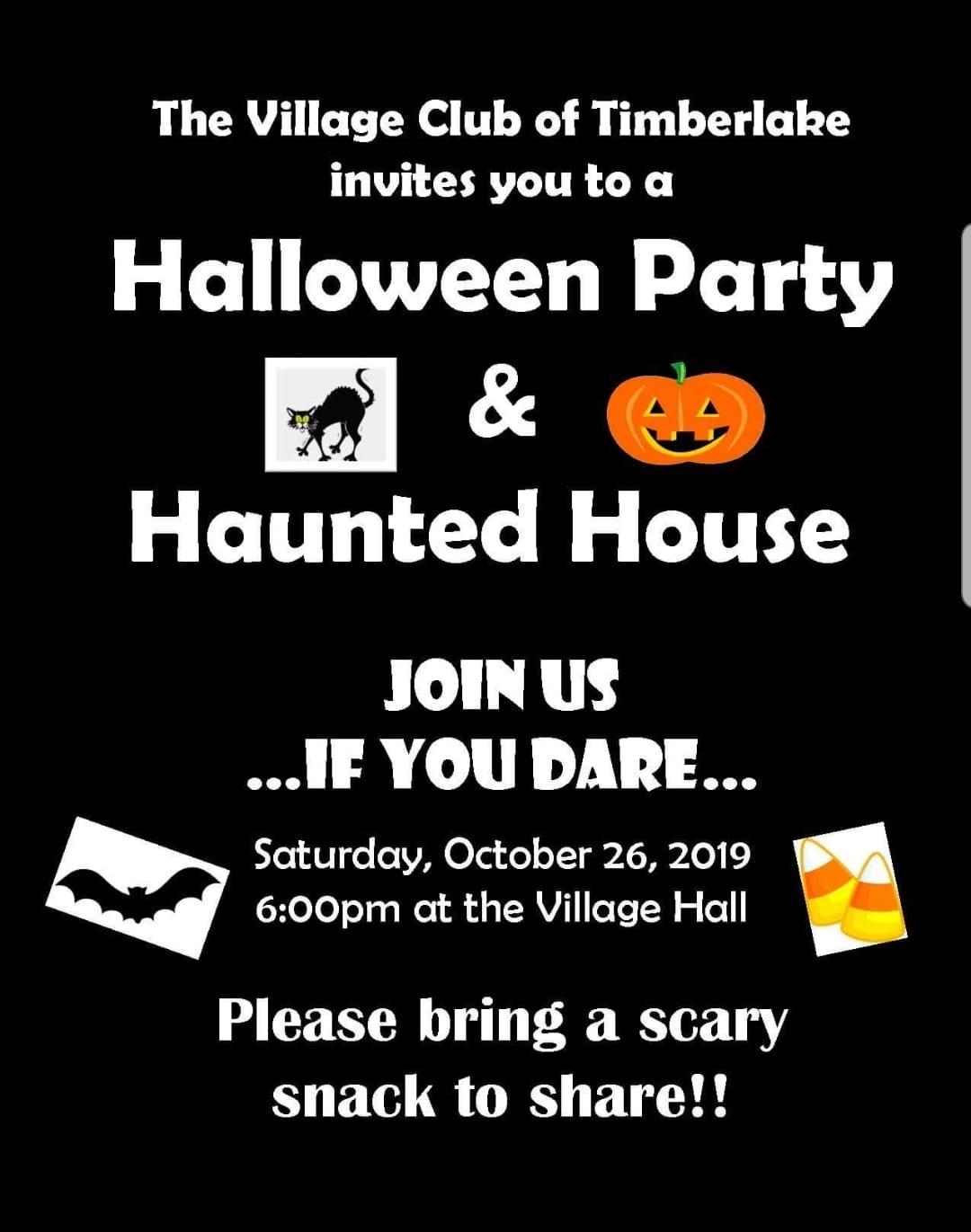 Village of Timberlake Halloween party